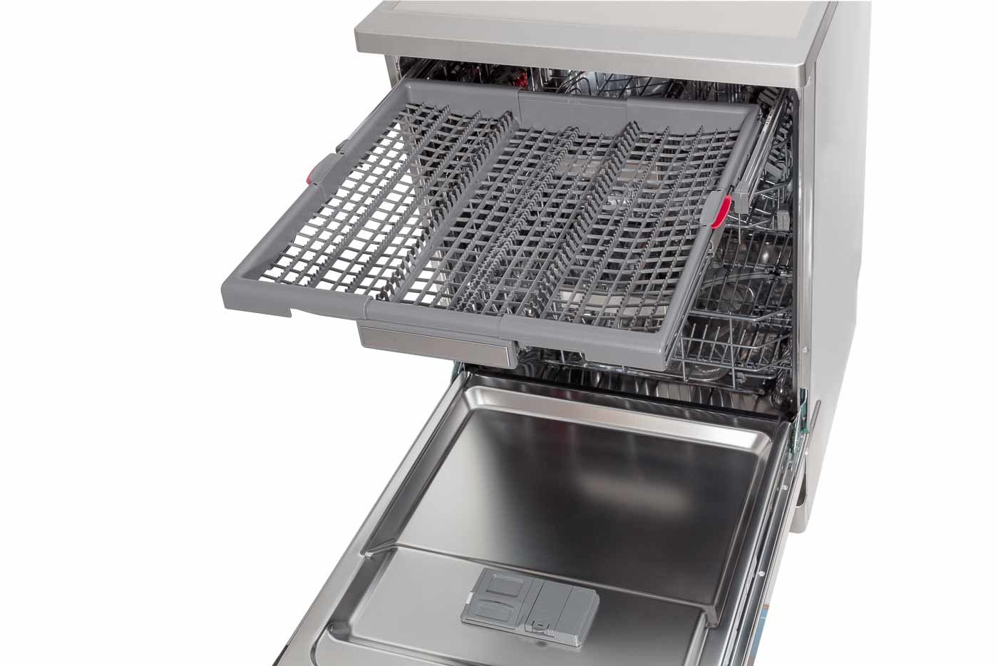 WFO3S23XAUS -45 angle internal close up of top draw pulled out including accessories - Cutlery rack closed
