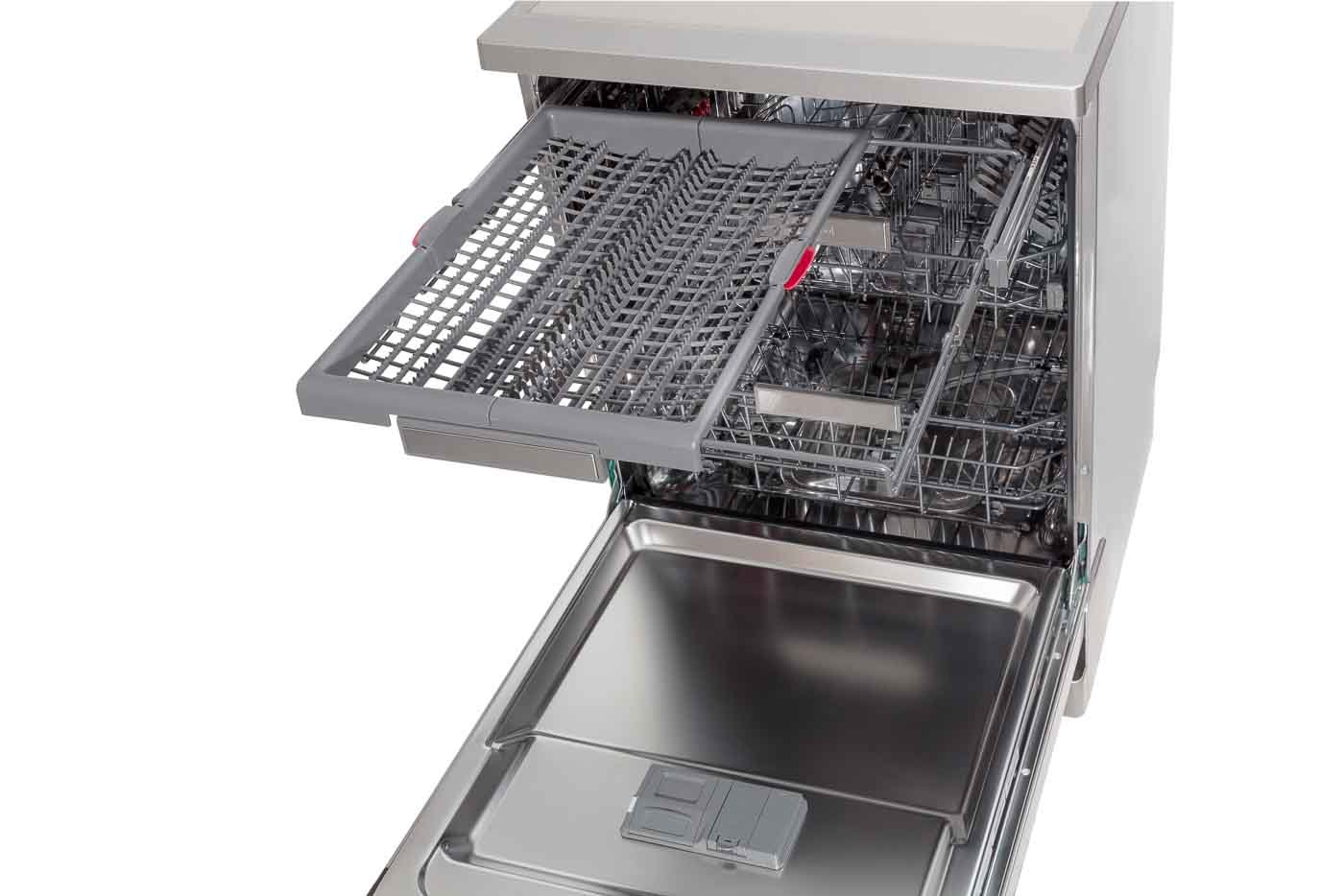 WFO3S23XAUS -45 angle internal close up of top draw pulled out including accessories - Cutlery rack open Right side
