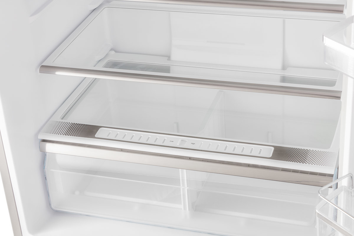WHPBM52800XX Internal close up of inner fridge racks and compartments