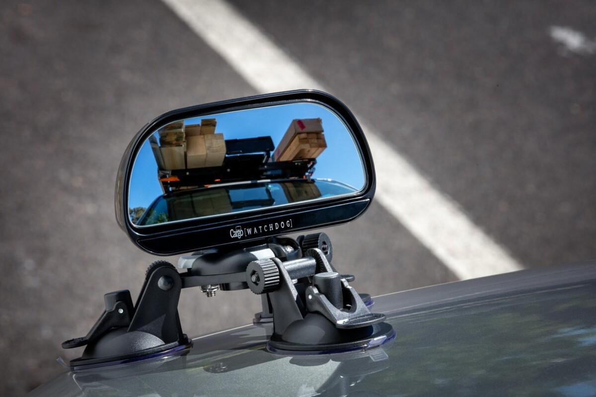 Watchdog Cargo Mirror on car showing cargo