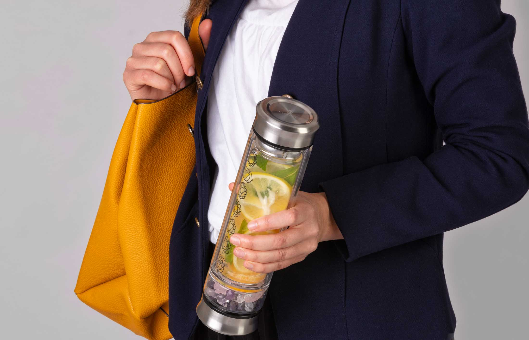 Water Infuser Business look honding bottle - Product in use sample