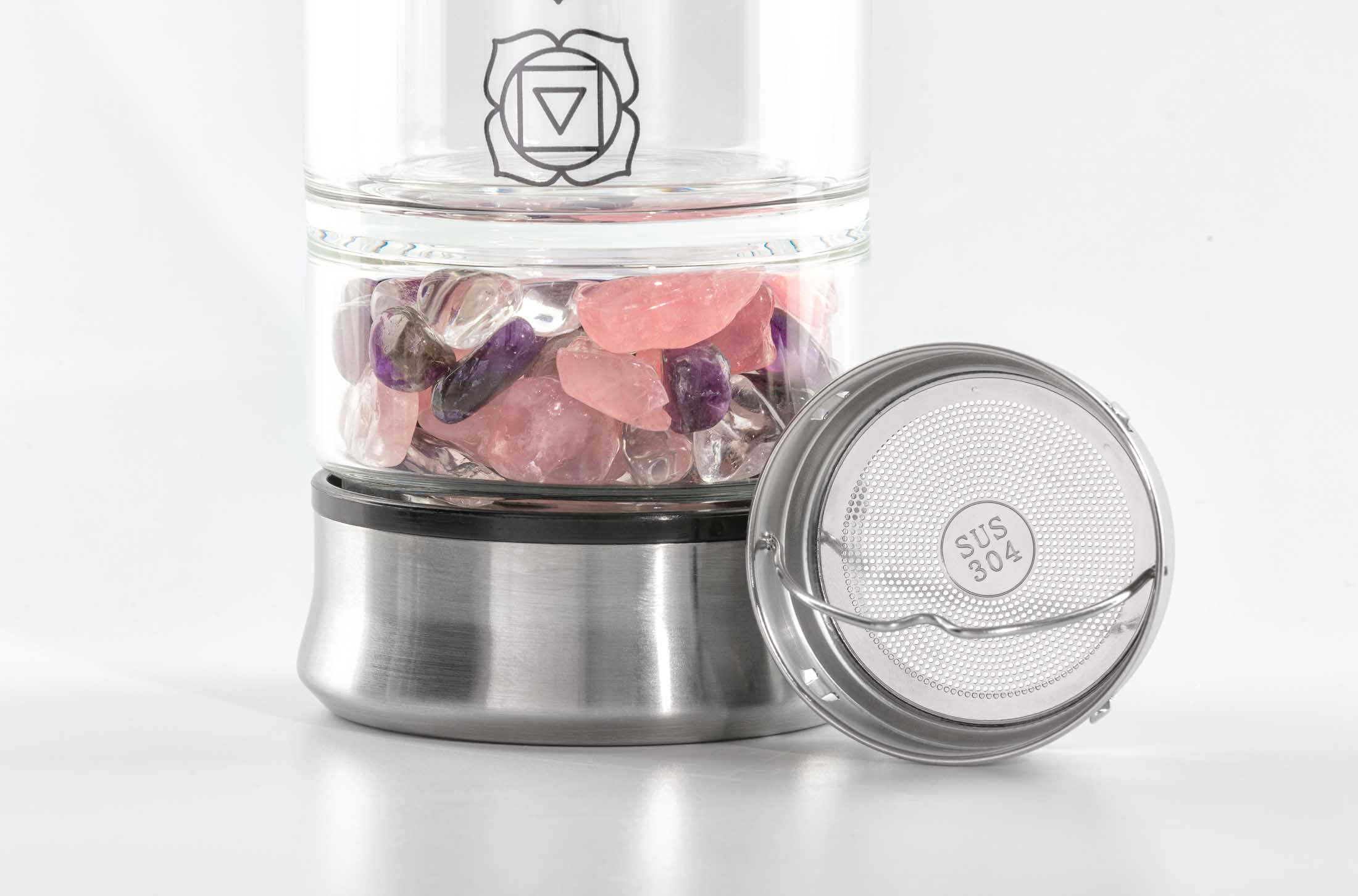 Water Infuser-Closeup filter and stones - Amazon product photography