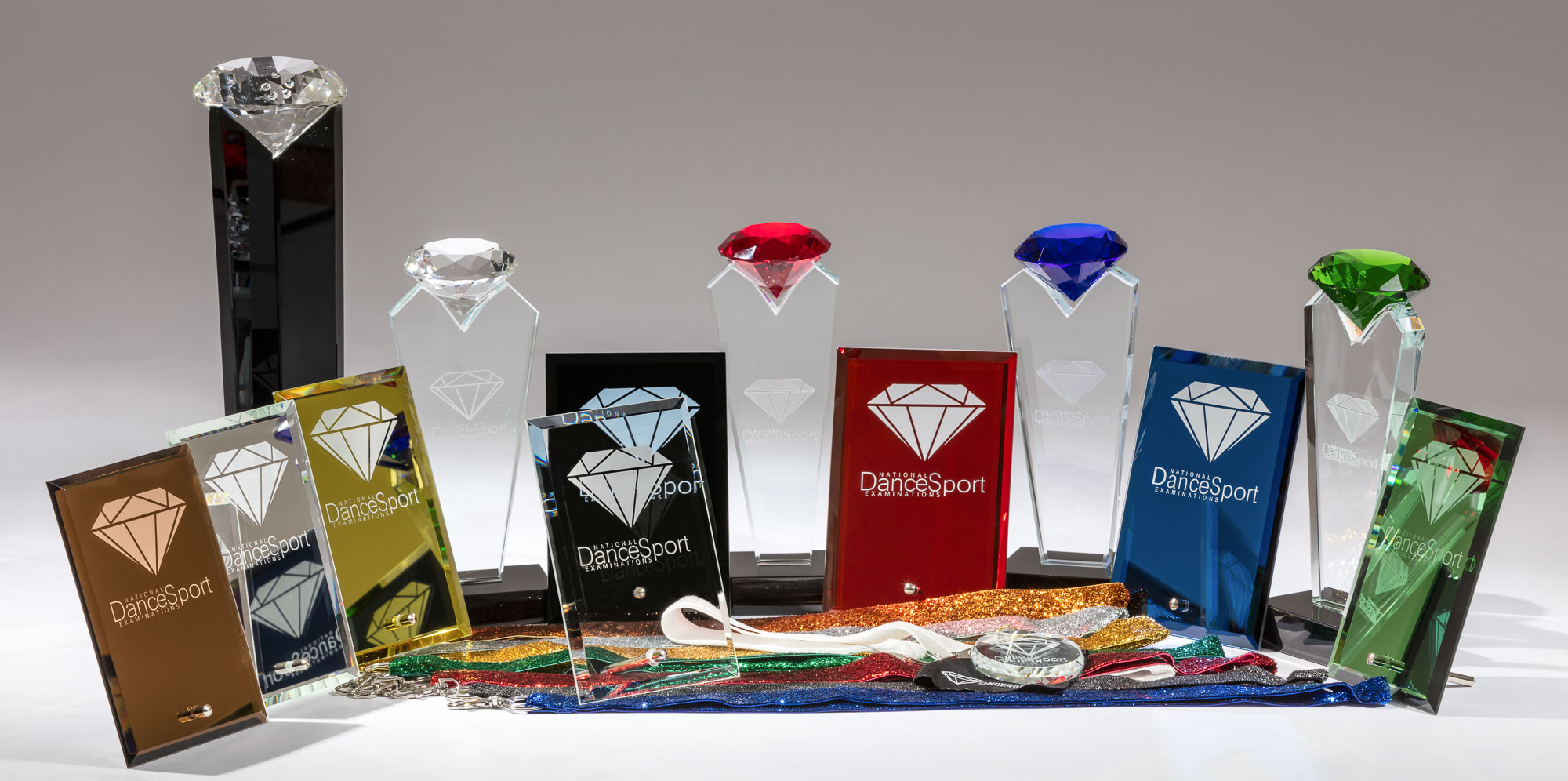 lifestyle product phtoography of dancing medal and plate - group