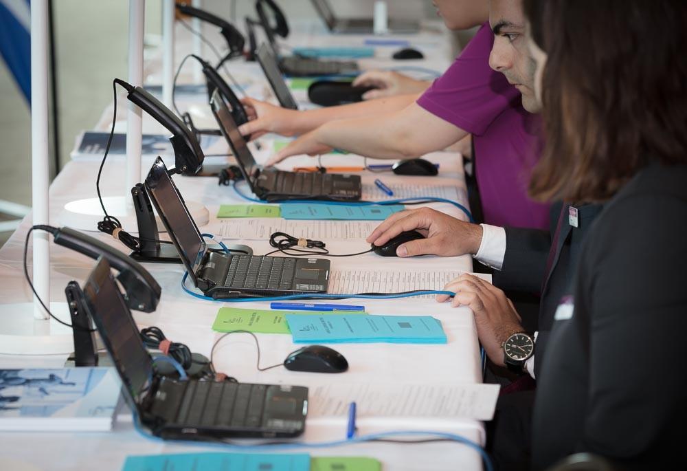 Events registration desk